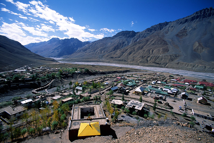 Air view of Kaza