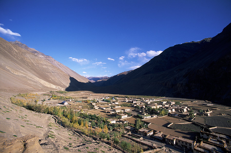 Air view of Tabo village