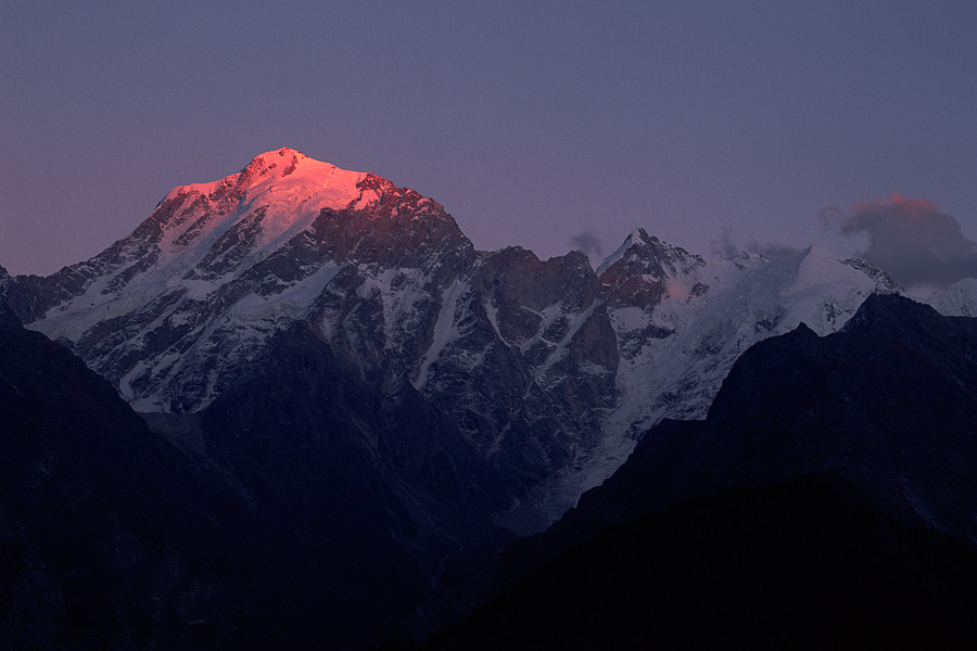 Kinnaur Kailash at Kalpa village, India