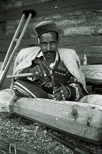 Carpenter at Sarahan, India